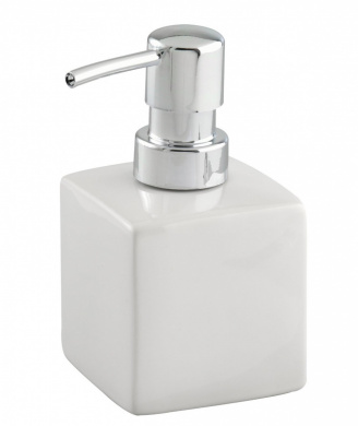 Wenko 17845100 Ceramic Soap Dispenser Square white