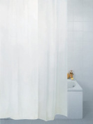 Fabric Shower Curtain Plain White 180cm x 220cm Extra Long