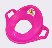 Dunya Plastik Pink Baby Toddler Safety Potty Training Adaptor Toilet Seat With Handles