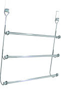 Sabichi 3-Tier Over Door Towel Rail, Stainless-Steel, Silver
