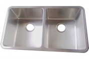 Kitchen Sinks Undermount Double Bowl Brushed Stainless Steel