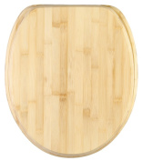 Soft Close Toilet Seat | Stable Hinges | Easy to mount | Bamboo