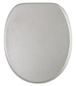 Soft Close Toilet Seat | High-Quality surface | Stable Hinges | Easy to mount | Glittering Silver