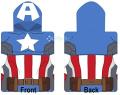 Marvel Avengers Captain America Poncho Hooded Towel