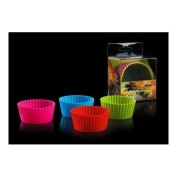 CKS Silicone Large Muffin Cases - Assorted Colours