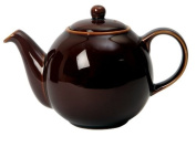 London Pottery 6 Cup Globe Teapot Rockingham Brown