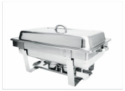 High Quality Stainless Steel Full Size Stackable Chafing Dish Set with 8.5 Litre Capacity.