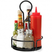 Versa Condiment Rack Black 18.5cm | Table Tidy, Condiment Holder