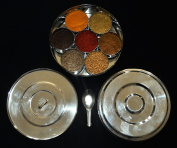 18 cm STAINLESS STEEL SPICE CONTAINER MASALA DABBA.