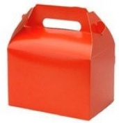"""""""Children's Red Party Lunch Box,10 Pack"""""""