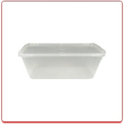 10 Microwave Safe Plastic Food Containers & Lids 1000ml Takeaway / Restaurant