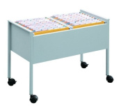 Durable ECO Suspension File Trolley for 100 A4 - Grey Black/Silver