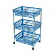 Axentia 235099 Storage Trolley with Three Baskets Plastic