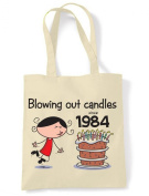 Blowing Out Candles Since 1984 30th Birthday Tote / Shoulder Bag