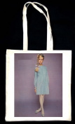 Twiggy in Ice Blue Wool Jersey by Mary Quants Ginger Group (Twiggy) TOTE BAG