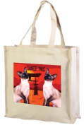 Siamese Cats, Cotton Shopping Bag, Cream