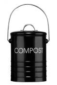 Premier Housewares Compost Bin with Handle - Black