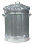 Parasene 41cm Galvanised Dustbin includes Metal Lid