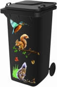 Wheelie Bin Stickers - Woodland - .