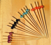 Coloured diamonds x 4 Cocktail Sticks wood skewers 12cm x 100