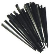 100 Contemporary Black Prism Cocktail Sticks 8.9cm Long