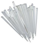 50 Contemporary Clear Prism Cocktail Sticks 8.9cm Long 3308C