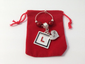 Handmade Bride - Hen Party Wine Glass Charm with L Plate Charm comes in a Gift Bag by Libby's Market Place