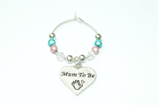 Individual ' Mum To Be ' Wine Glass Charm with White Gift Card by Libby's Market Place