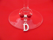 Personalised Silver Plated Letter 'D' Wine Glass Charm by Libby's Market Place