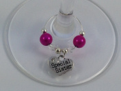 Special Sister Wine Glass Charm by Libby's Market Place