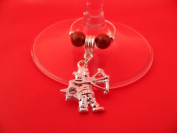 Silver Plated Sagittarius Zodiac Sign Wine Glass Charm by Libby's Market Place