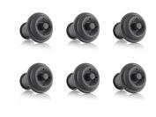 Vacu Vin Wine Saver Vacuum Stoppers, Set of 6 - Grey