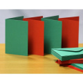 Craft UK blank greeting cards & envelopes - A6/C6 red & green christmas colours x 50