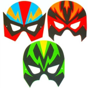 4 Superhero face masks.EVA ,CERTIFIED.PLAYWRITE GROUP,PARTY BAG FILLERS