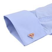 Superman Cufflinks Yellow and Red
