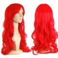 chinkyboo 70cm Slap-up Women's Red Long Curly Wigs Beautiful Cosplay Fancy Dress + Wig Cap Gift