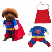 XSMALL Superman Dog/Cat Costume