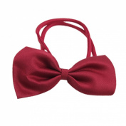 Dog Cat Red Bow Tie Bowknot Necktie Pet Adjustable Collar