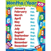 OWL MONTHS OF THE YEAR LEARNING CHART