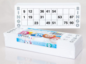 200 large printed Bingo cards for seniors system 15 from 90