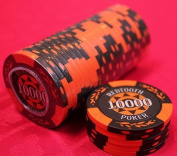 10,000 Value Numbered Poker Chip Roll