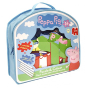 Peppa Pig Giant Double-Sided Puzzle and Colour Jigsaw Puzzle
