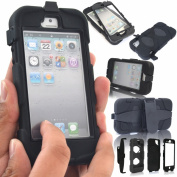 Apple iPhone 5C Shock Proof Heavy Duty Builders Case Cover With Belt Clip & Built in Screen Protector