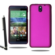 Armour Hard Back Case Plastic Skin Cover HTC Desire 610 & Screen Protector + Stylus