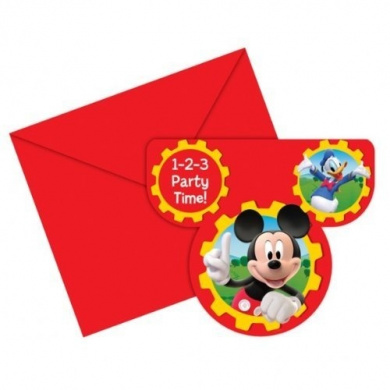 Mickey Mouse Clubhouse Party - Mickey Mouse Birthday Party Invitations x 6