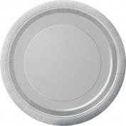 18cm Silver Paper Plates - pack of 20