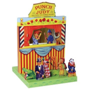 Vintage Style Punch and Judy Puppet Theatre Set