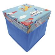 Novelty Planes Aeroplanes Blue Boys Kids Children's Storage Chest Toy Box NEW