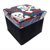 Novelty Keep Out Skulls Children's Boys Kids Storage Chest Toy Box NEW