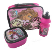 Official Monster High Lunch Bag Set - Includes Drink Bottle and Sandwich Box